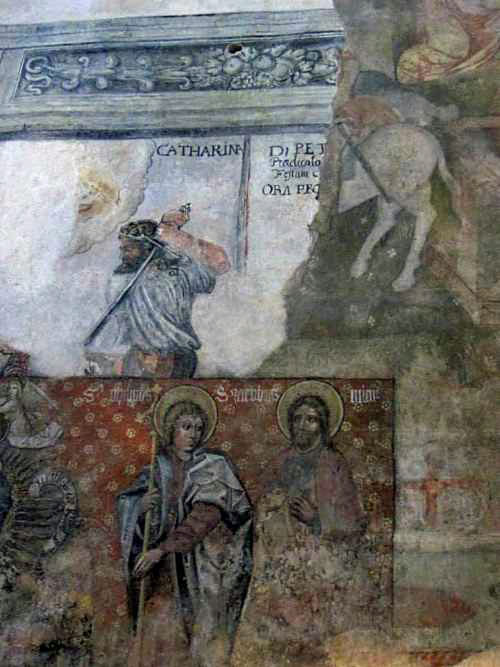 Fresco inside Prague Crossroads.