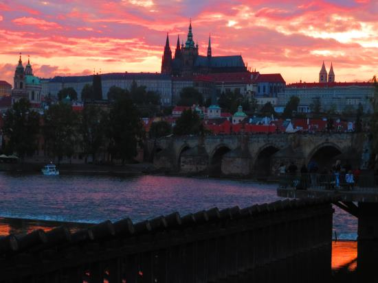 Charles Bridge at susnset
