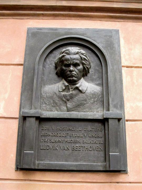 Plaque for Beethoven in Prague